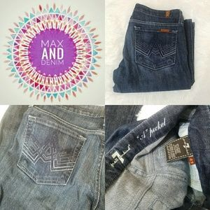 """7 for all mankind dark ombre """"A"""" pocket size 27"""